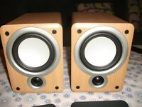 DENON SC-M73 BOOKSHELF SPEAKERS.
