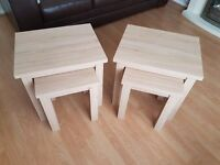 FOR SALE Two sets of end tables