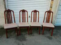 3 & 1/2 Wooden Dining Chairs