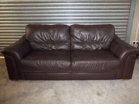 Brown Full Leather 3+2-seater Suite (Sofa)