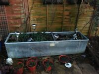 6ft trough galvanised steel, water or planter, NO pump or Drain plug