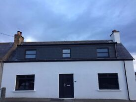 Newly renovated 3 bedroom cottage in seaside town of Embo, Dornoch, 2 minutes from the beach.