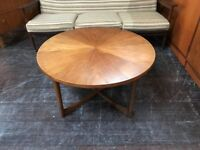 Sunburst Coffee Table by McIntosh of Kirkcaldy. Retro Vintage Mid Century