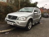 MERCEDES ML270 CDI DIESEL 2003 TRIP-AUTOMATIC CLEAN FULL LEATHER 2 OWNERS