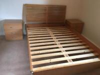 Double bed frame & 2 bedside cabinets excellent condition. Will sell separately WORKINGTON CUMBRIA
