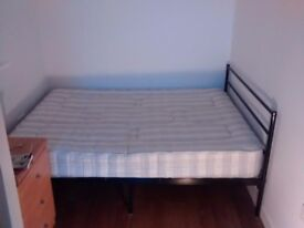 Double bed frame - metalic