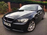 Bmw 320d m sport manual black with black leather saloon