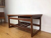 Stunning Danish Mid Century Solid Rosewood, Geometric Tiled Top Coffee Table FREE LOCAL DELIVERY