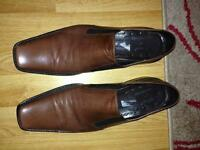 Men's dark brown leather shoes size EU 43/ UK 10 in excellent condition Rocco P/Russell & Bromley
