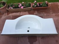 White ceramic basin only £30
