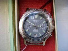 Poljot manual wind mechanical chronograph wristwatch- Russia -'00- New old stock - Cal 3133