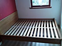 solid wooden king size bed frame