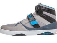 Adidas Originals High Tops Aluminium/Dark Onix/Black-Size 6 & a half