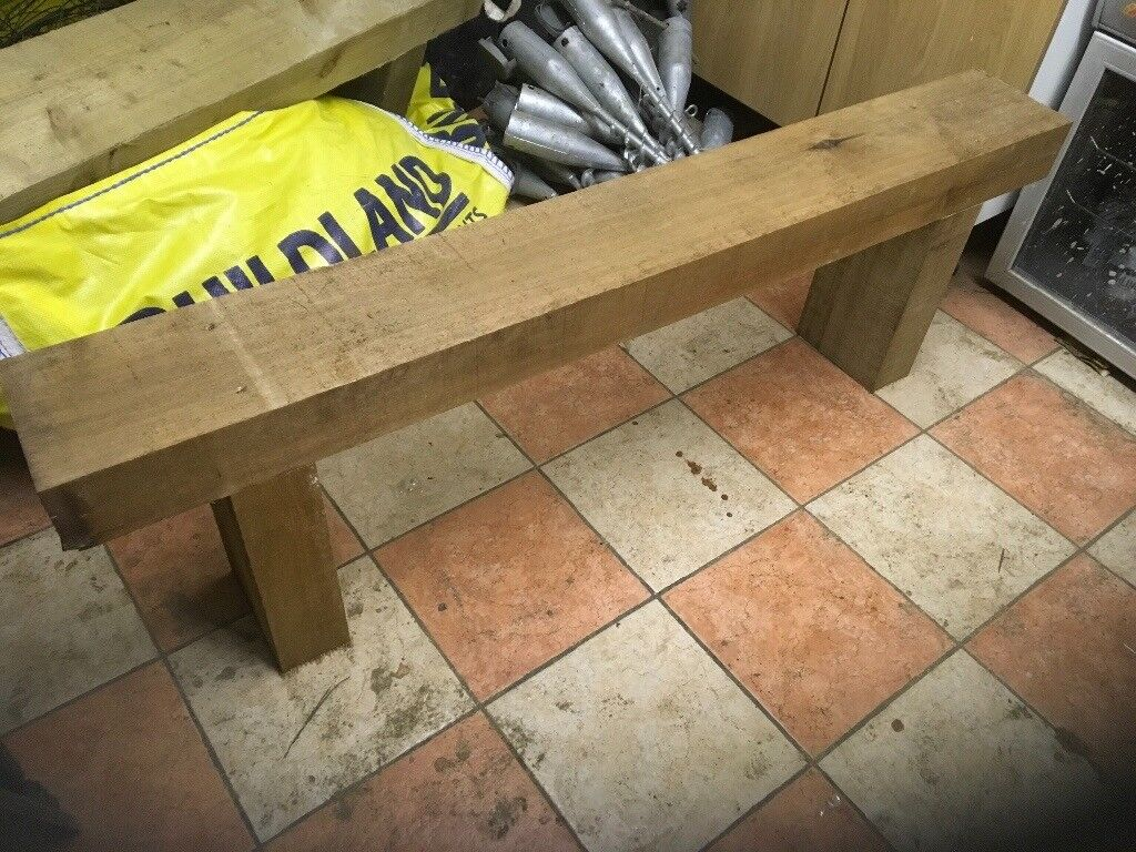 New chestnut bench