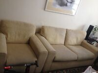 Three Seater Sofa + Armchair