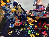 Fisher Price Imaginext Space Shuttle & Tower, wizard tower and ocean boat