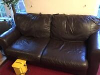 Brown sofa 2and3 seater