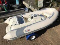 Avon Seasport Hypalon Jet Rib rigid inflatable boat including roller trailer.