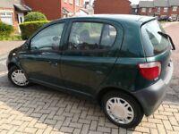 Toyota Yaris 1.0 VVT-i 2001 Green, still 10 months MOT