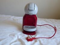 KRUPS Nescafe Dolce Gusto coffee machine. Red and grey. For use with pods.