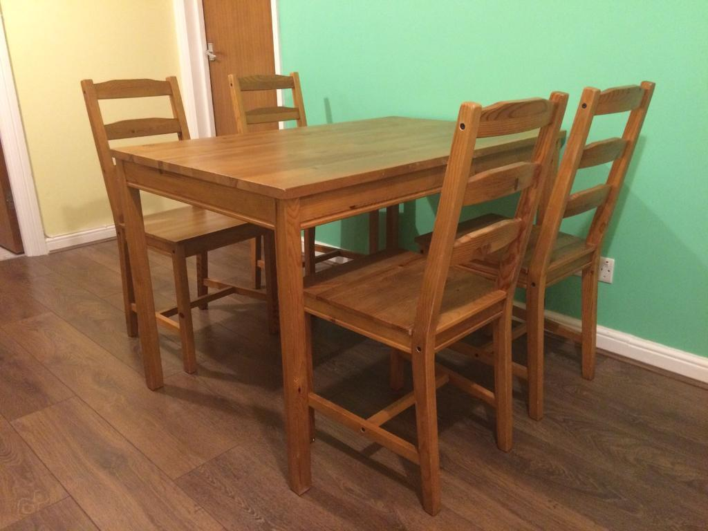 Sold Ikea Dining Table And 4 Chairs Jokkmokk In St