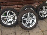 """Vauxhall Zafira (2004-2008) 16"""" 4x Alloy Wheels + Tyres 205/55 R16."""