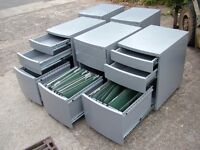 Repon 3 draw combination filing cabinet 600 mm x 400 mm x 560 wide on castors can deliver