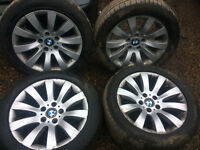bmw e60 5 series se alloys 17 inch with tyres for sale call parts