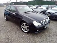 Mercedes-Benz C Class 2.0 C200 Kompressor Sport 2dr, SUNROOF. 1 OWNER FROM NEW. 1 YEAR MOT. LOW MILE