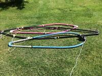ASSORTED SAILBOARD SAILS, BOOMS, DAGGERBOARDS, MASTS,