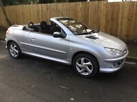 Peugeot 206cc Convertible, Automatic Gearbox, 1587 cc, Mot Aug 17. Service History. Electric Roof.