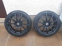 Lenso Spec B (Matte black) 4 x 108 Alloys