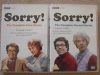 'SORRY' DVDs - COMPLETE SERIES ONE AND TWO.