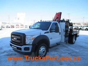 2012 ford F-550 XL 4X4, PICKER + SERVICE DECK!!!