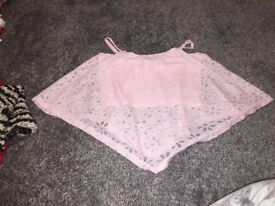 Pink netted top age12/13