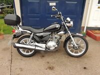 Yamaha YBR Custom 125 motorbike.