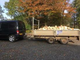Large trailer load of firewood/logs/blocks