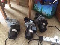 3x 12,000 lh Sequence Pumps - Marine & Pond Pumps Koi etc..