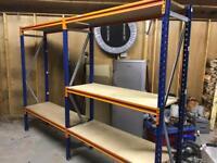 Industrial racking. 2 bays. 5 shelves.