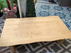 Bespoke solid coffee table