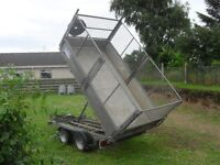 2011 ifor williams tt105 tipper trailer in very good condition