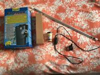 Tetra filter, heater, light And fish flake bundle