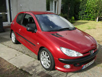 Peugeot 206GTI, 51 plate, 96K, Excellent condition for year £495ono