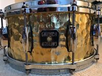 Gretsch hammered brass snare 14x6.5