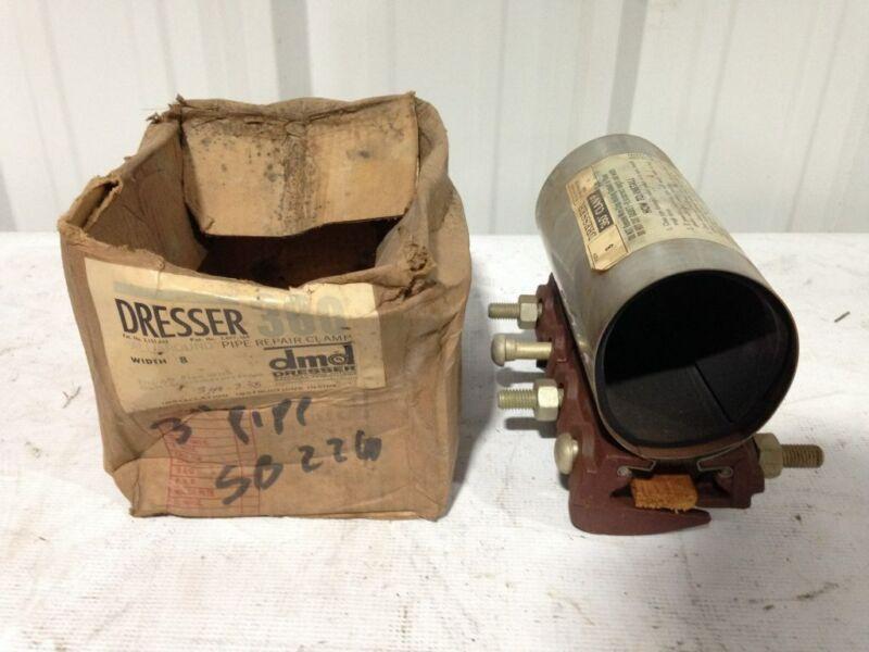 "Dresser 360 3"" X 8"" Pipe Repair Clamp 3.40""-3.58"" OD -NIB"