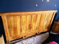 Broken king size oak furniture land solid mango bed