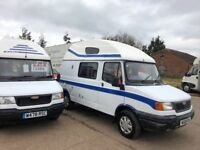 ldv fifer enc pilot camper,2 berth,1.9 peugeot diesel engine,power steering,w reg 2000