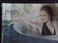 Aqua Spa . 4 person inflatable hot tub.