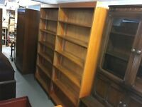 RETRO TEAK DOUBLE BOOKCASE (Delivery is available for a small charge )