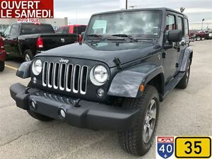 2017 Jeep WRANGLER UNLIMITED SAHARA, NAV, BLUETOOTH, HITCH, DISP